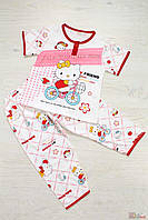 Пижама белая с красным с рисунками Hello Kitty (134 см)  No name 2100000259724