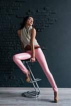 """Лаковые кожаные женские леггинсы """"MILAN"""" на резинке (5 цветов), фото 2"""