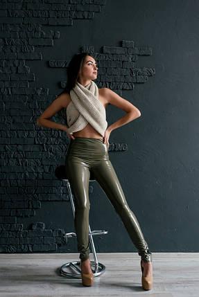 e35f1ce4afc34 Лаковые кожаные женские леггинсы