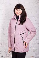 Куртка весенняя для женщин батальных размеров весна 2018 - (модель к-3)