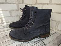 Street_Германия, замша-стильные современные утеплены ботинки 39р ст.25см H98