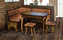 Кухонный уголок Даллас комплект (Микс Мебель)  1550х1150мм бук