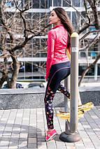 """Спортивные женские лосины """"ProFit"""" с контрастными вставками (3 цвета), фото 2"""