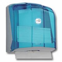 Диспенсер для бумажных полотенец, пластик, голубой, K.4-T