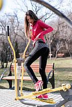 """Спортивные женские лосины """"ENERGY"""" с контрастными вставками, фото 3"""