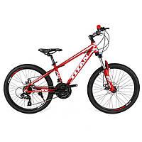 Подростковый Горный велосипед Titan Flash 24″ (Red-White-Gray), фото 1