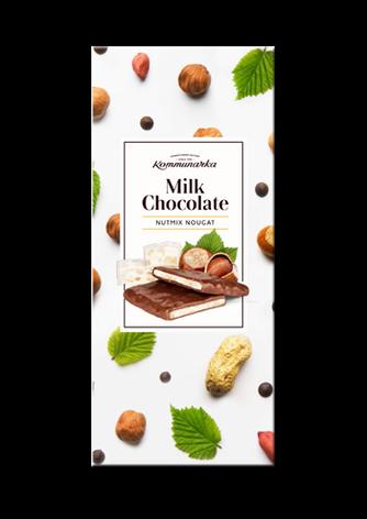 ШОКОЛАД МОЛОЧНЫЙ С ОРЕХОВОЙ НУГОЙ «MILK CHOCOLATE NUTMIX NOUGAT», фото 2