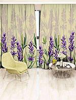 Фотоштора Walldeco Фиолетовые цветы 142х270 2шт (29445_3_1)