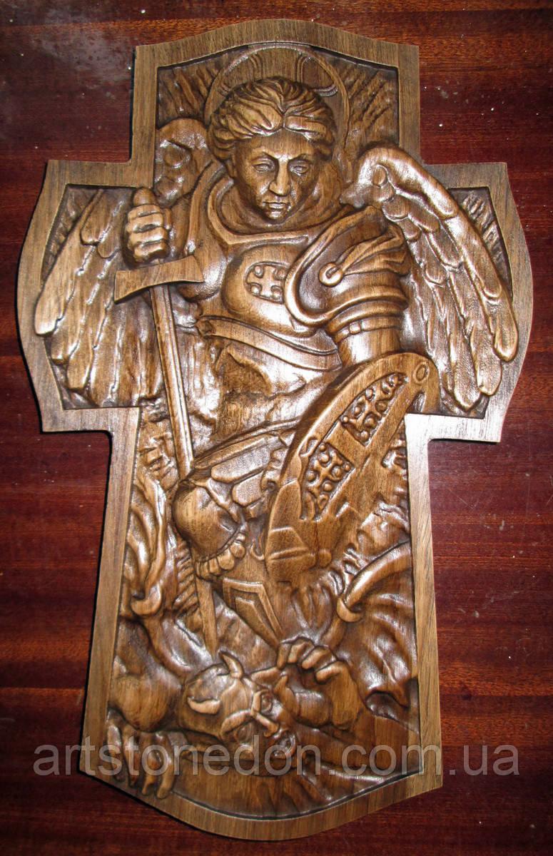 Икона панно резное Архангел Михаил №9