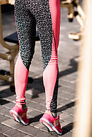 """Спортивные женские лосины """"Melanj"""" с контрастными вставками (2 цвета)"""