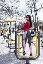 """Спортивные женские лосины """"Melanj"""" с контрастными вставками (2 цвета), фото 3"""