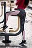 """Спортивные женские лосины """"Melanj"""" с контрастными вставками (2 цвета), фото 2"""