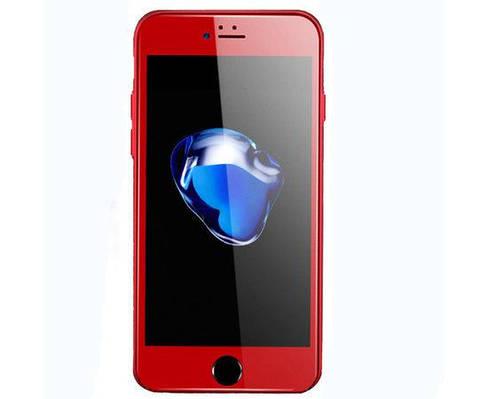 Защитное стекло 4D для телефона iPhone 6 Plus/ 6s Plus- красный