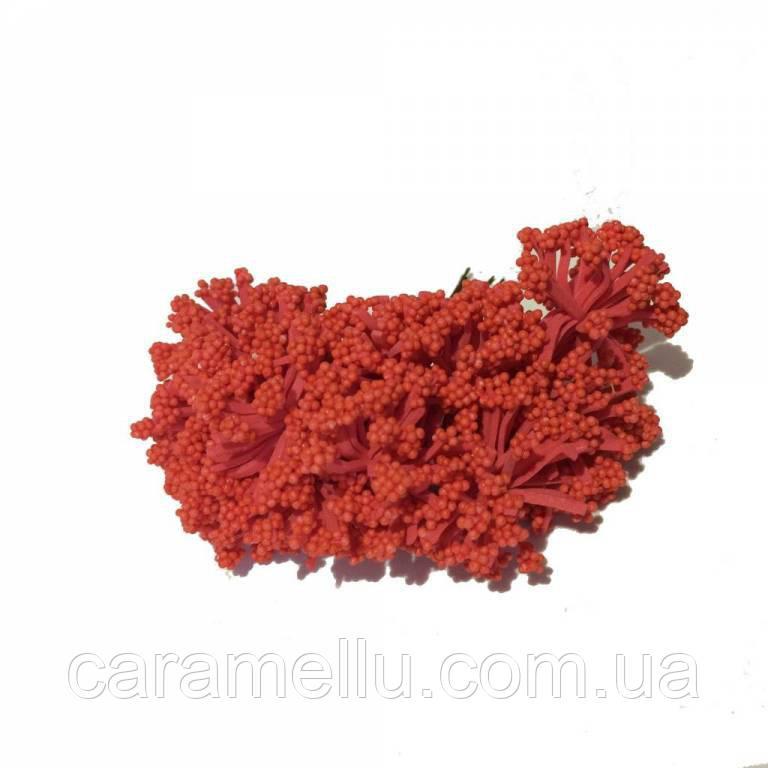Тычинки кашка на проволоке 12 штук. Цвет красный