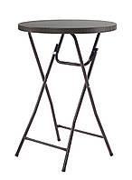 Стол барный пластиковый складной Rattan Design, фото 1