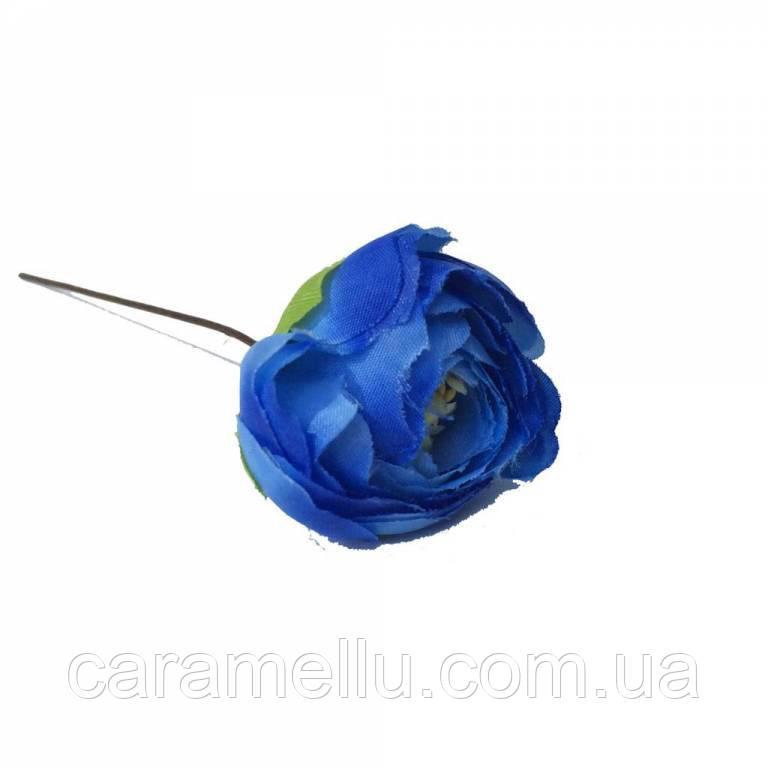 Ранункулюс. Цвет синий.