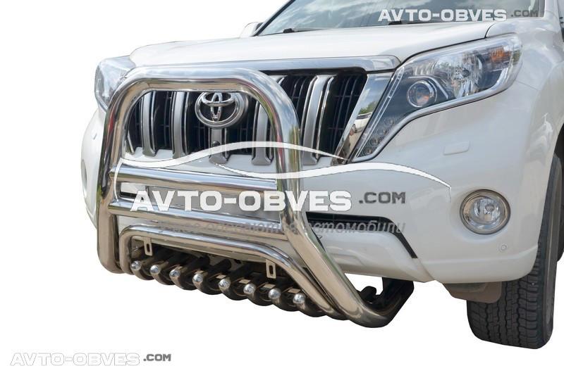 Кенгурятник високий для Toyota Prado 150 (l. Schiessler)