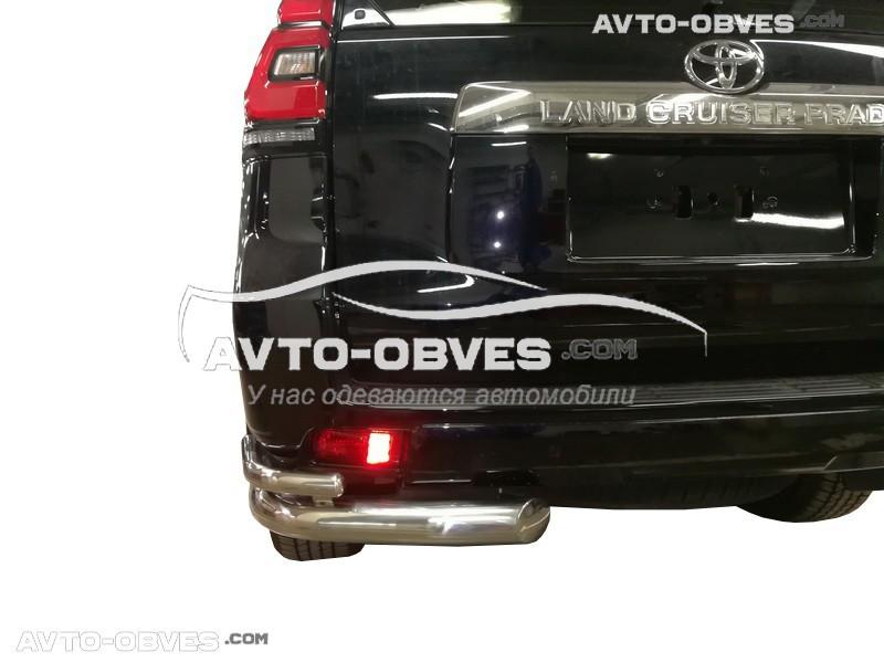 Защита заднего бампера для Toyota Prado 150 2018-..., двойные углы