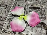 Лепестки роз. Цвет розово-желтый.  144 штуки
