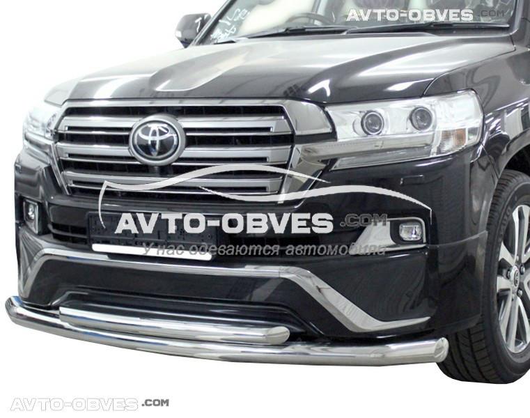 Дуга нижнього бампера подвійна Toyota LC200 2016-2018 (комплектація Executive)