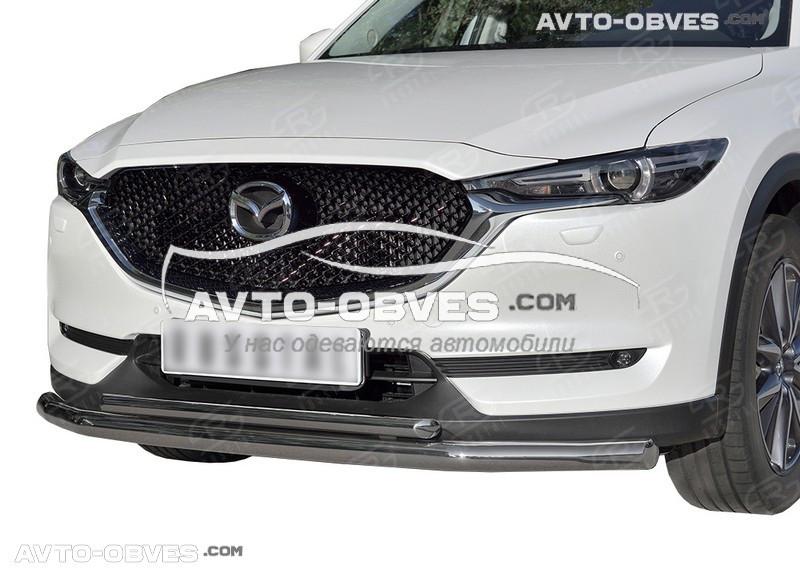 Дуга нижнего бампера двойная Mazda CX5 2017-... (5-7 дней под заказ)