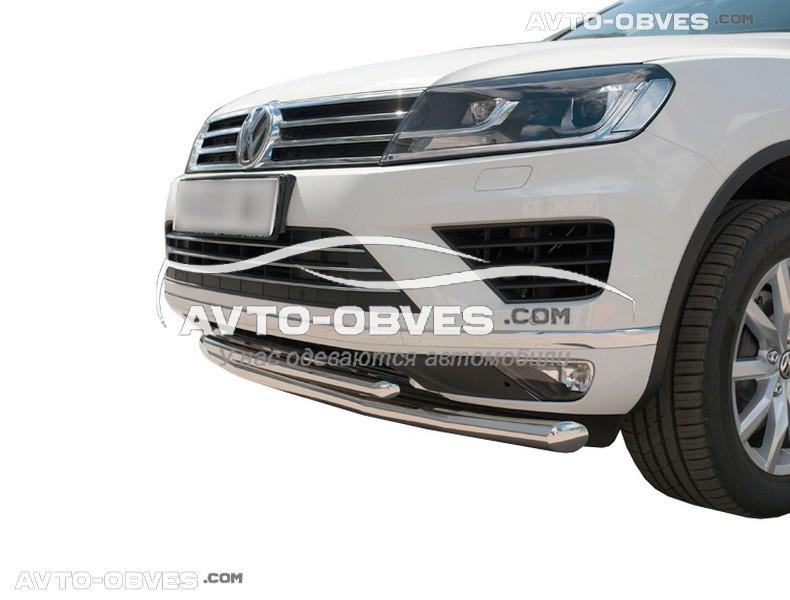 Двойной ус для Volkswagen Touareg 2010 - 2017 (Тамсан)