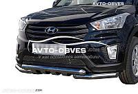 Защита нижнего бампера штатная для Hyundai Creta