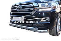 Защита нижнего бампера штатная Toyota LC200 2016-…