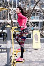 """Яркие женские лосины для спорта """"Дебора"""" с принтом, фото 3"""