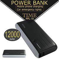 УМБ портативная зарядка Power Bank PRODA PPL-19 12000 mAh Black