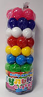 Мячики Пластмассовые в тубусе 62 шт. Д. 6 см 0262 Бамсик Украина