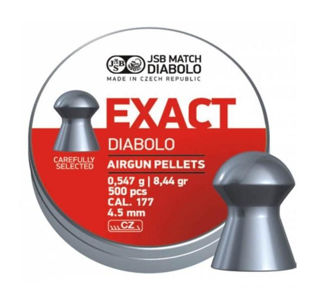 Пули для пневматических винтовок JSB EXACT Diabolo cal. 177 (4,5mm)
