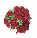 Букет роз из фоамирана(латекса). Цвет красный, фото 2