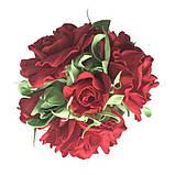 Букет роз из фоамирана(латекса). Цвет красный, фото 4