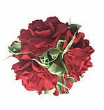 Букет роз из фоамирана(латекса). Цвет красный, фото 5