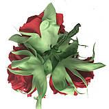 Букет роз из фоамирана(латекса). Цвет красный, фото 6