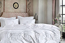 Комплект постельного белья сатин люкс Pepper home евро размер Pia