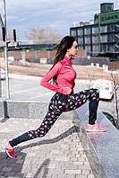 """Женские спортивные лосины """"FitPro"""" с контрастными вставками (2 цвета)"""