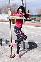 """Женские спортивные лосины """"FitPro"""" с контрастными вставками (2 цвета), фото 2"""