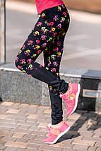 """Женские спортивные лосины """"FitPro"""" с контрастными вставками (2 цвета), фото 3"""