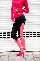 """Спортивные женские лосины для фитнеса """"Tracey"""" с контрастными вставками, фото 2"""