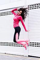 """Спортивные женские лосины для фитнеса """"Tracey"""" с контрастными вставками (2 цвета)"""