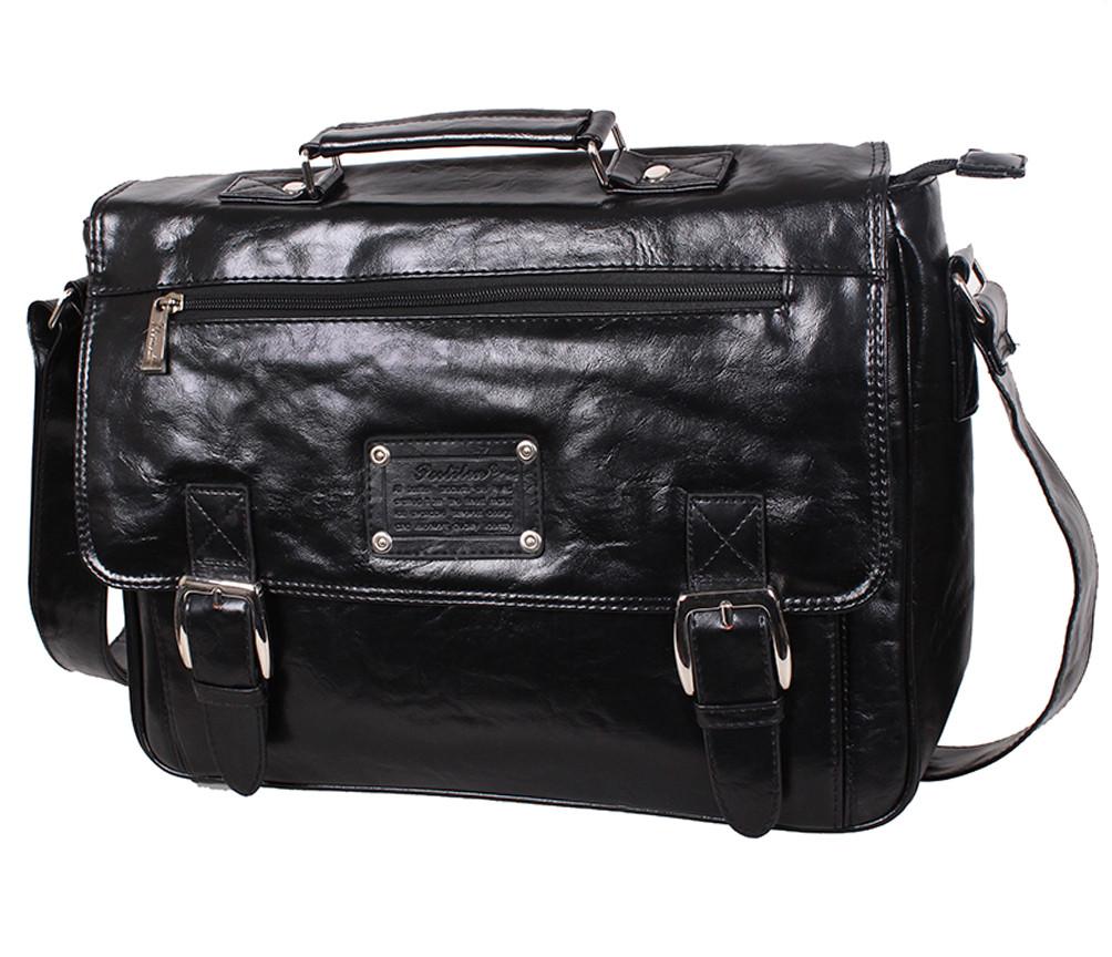 Мужской портфель из искусственной кожи 303070 черный