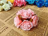Роза крупная. Сатин. Цвет розовый, фото 3