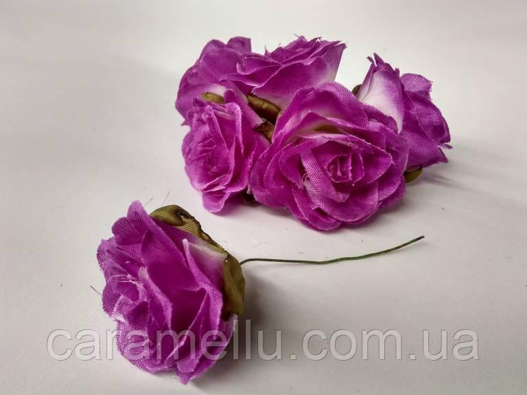 Роза крупная. Сатин. Цвет сиреневый