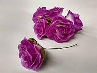 Роза крупная. Сатин. Цвет сиреневый, фото 1