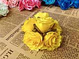 Роза крупная. Сатин. Цвет желтый, фото 3