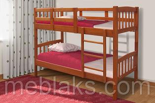 """Кровать двухъярусная """"Бай-Бай"""" (сосна) в спальню (серия Уют)  Микс Мебель"""
