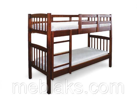 """Кровать двухъярусная """"Бай-Бай"""" (сосна) в спальню (серия Уют)  Микс Мебель, фото 2"""