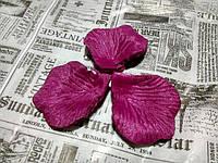 Лепестки роз. Цвет малиновый темный. 144 штуки